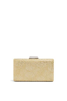 Metallic Etched Box Clutch by Sondra Roberts