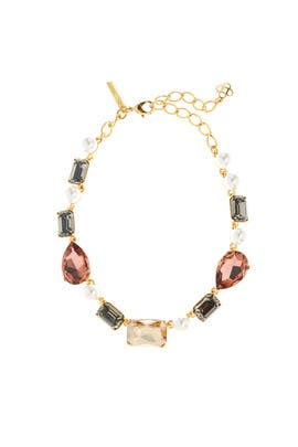 Bold Crystal Necklace by Oscar de la Renta