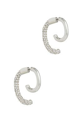 Convertible Pave Luna Earring by DEMARSON