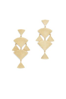 Gold Wren Earrings by Elizabeth and James Accessories