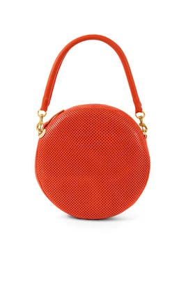 Poppy Perf Circle Clutch by Clare V.