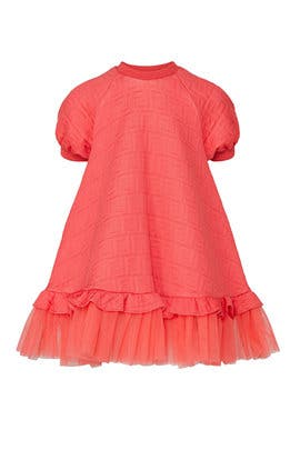 Kids Logo Embossed Dress by Fendi Kids