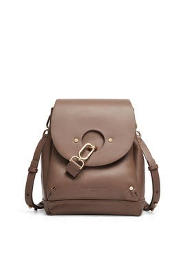 Round Flap Bucket Bag by Liebeskind