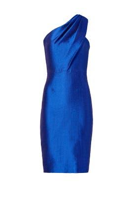 Sleek Cobalt Sheath by ML Monique Lhuillier