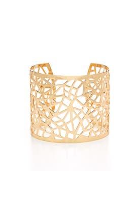 Gold Lattice Cuff by RJ Graziano