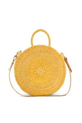 Yellow Woven Alice Maison Bag by Clare V.