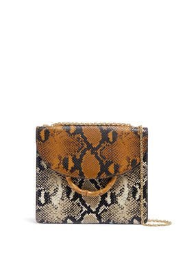 Snake Print Marla Square Shoulder Bag by Loeffler Randall