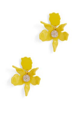 Sunflower Crystal Lily Earrings by Lele Sadoughi