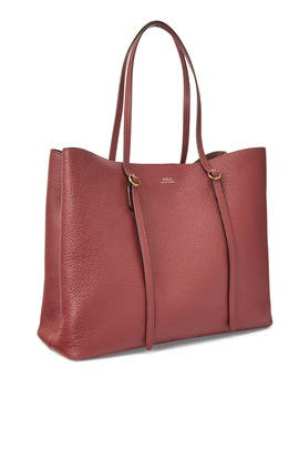Bordeaux Large Lennox Tote by Polo Ralph Lauren Accessories