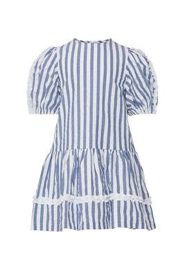 Kids Stripe Ruffle Dress by Il Gufo Kids