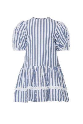 Kids Stripe Ruffle Dress by Il Gufo Kids