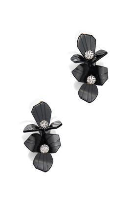 Black Trillium Bouquet Earrings by Lele Sadoughi