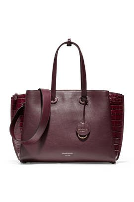 Burgundy Grand Ambition Satchel by Cole Haan Accessories