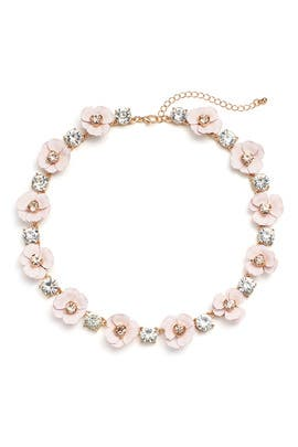 Blush Flowers Necklace by Slate & Willow Accessories