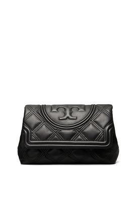 Black Fleming Soft Clutch by Tory Burch Accessories