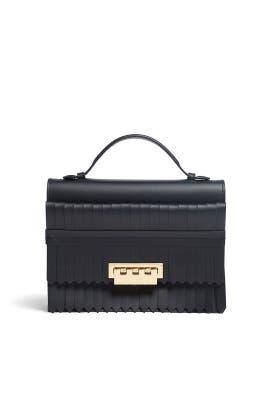 Black Kiltie Earthette Bag by ZAC Zac Posen Handbags