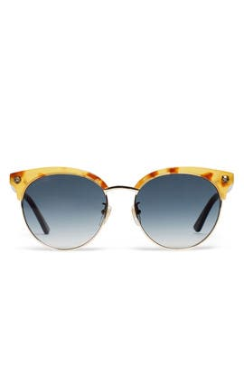 Havana Grey Sunglasses by Gucci