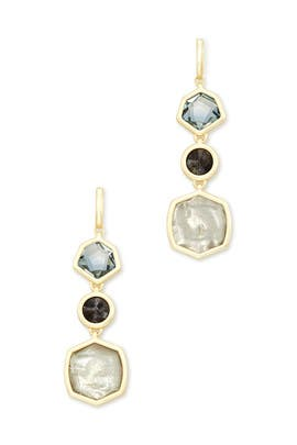 Steel Grey Mix Natalia Linear Earrings by Kendra Scott