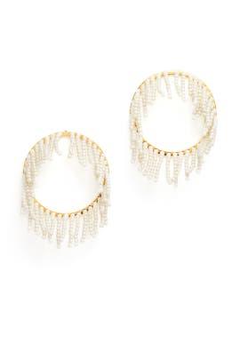 Pearl Streamer Earrings by Lele Sadoughi
