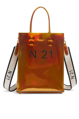 Bronze Mini Shopping Bag by No. 21 Handbags