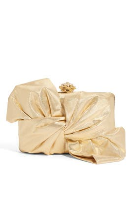 Gold Laurel Clutch by Franchi