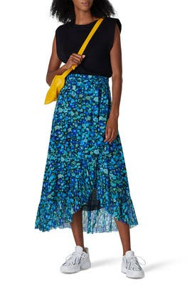 Floral Mesh Wrap Skirt by GANNI