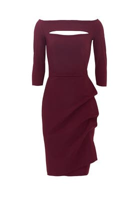 Burgundy Kate Sheath by La Petite Robe di Chiara Boni