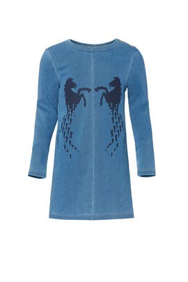 Kids Denim Horse Dress by Chloé Kids