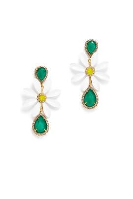 Green Massey Earrings by Elizabeth Cole