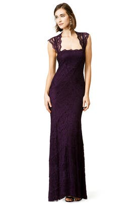 Purple Horizon Gown by Nicole Miller