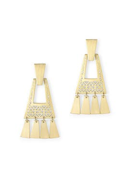 Kase Gold Fringe Earrings by Kendra Scott