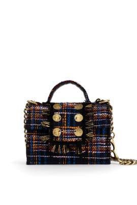 Blue Orange Tweed Petite Bag by Kooreloo
