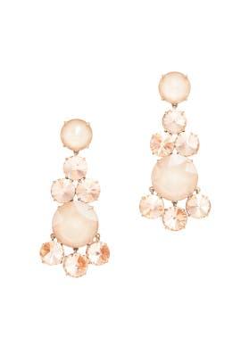 Peach Chandelier Earrings by Tory Burch Accessories