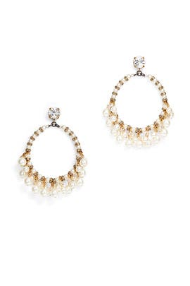 Pretty Women Hoop Earrings by Erickson Beamon