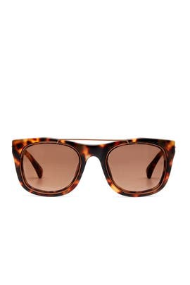 Bronze Tortoise Sunglasses by Linda Farrow