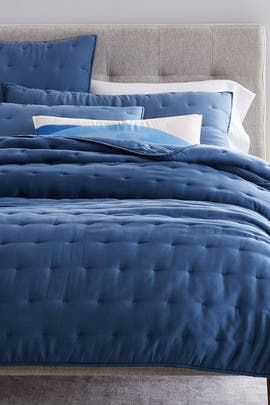 Full/Queen Tencel Crescent Stitch Bedding Bundle by West Elm