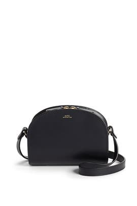 Black Demi Lune Mini Bag by A.P.C Accessories