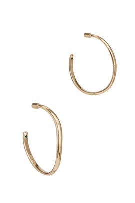 Calypso Curve Hoops by DEMARSON