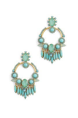 Turquoise Fiona Earrings by Elizabeth Cole