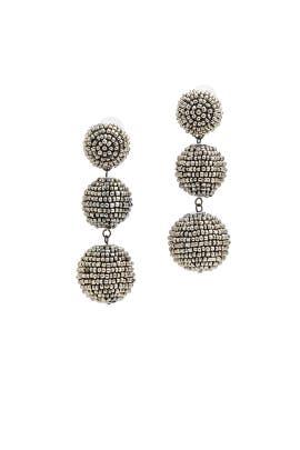 Seed Bead Drop Earrings by Kenneth Jay Lane