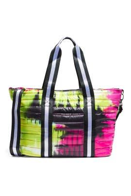 Neon Pink Tie Dye Wingman Bag by Think Royln