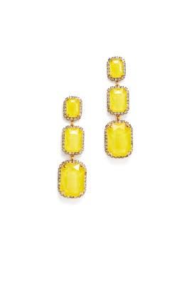 Yellow Powell Earrings by Elizabeth Cole