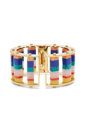Striped Hinged Slider Bracelet by Lele Sadoughi