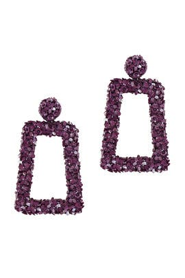 Purple Fleur Dusk Earrings by Sachin & Babi Accessories