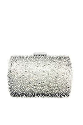Pewter Beaded Box Clutch by Sondra Roberts