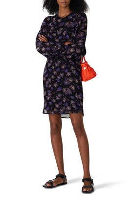 Floral Georgette Mini Dress by GANNI
