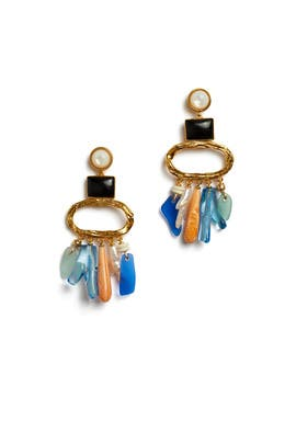 Beachcomber Earrings by Lizzie Fortunato