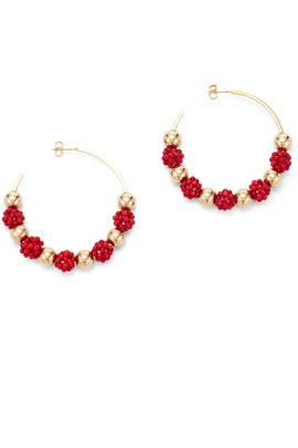 Coral Hoops by Daughter
