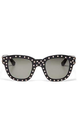 Classic Studded Sunglasses by Saint Laurent