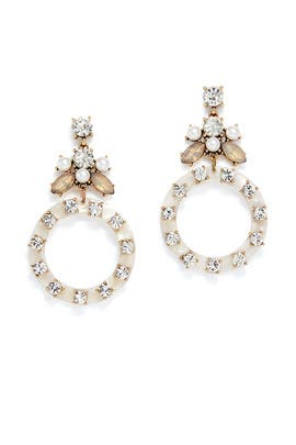Crystal Drop Hoop Earrings by Slate & Willow Accessories